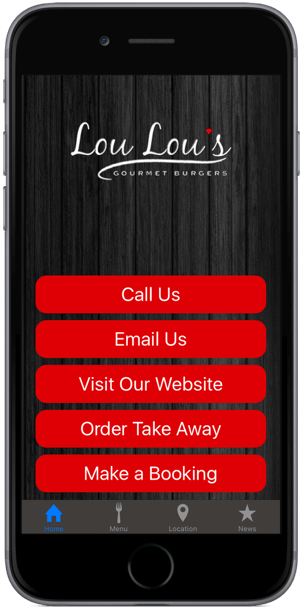 restaurant iphone / android app home
